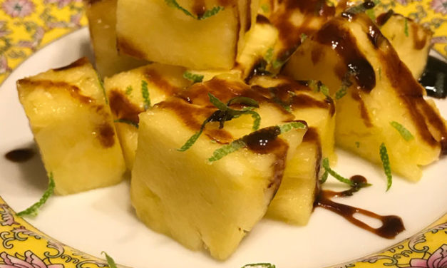 Pineapple with Lime and Molasses