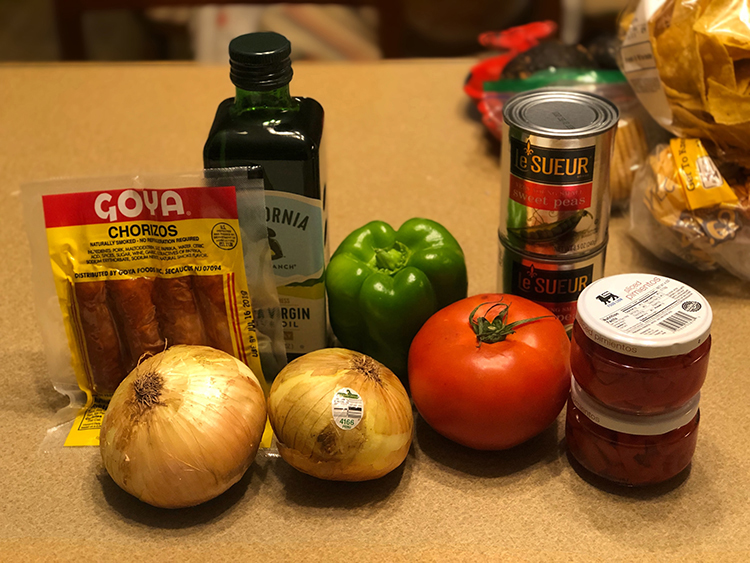 Chicken and Yellow Rice Ingredients