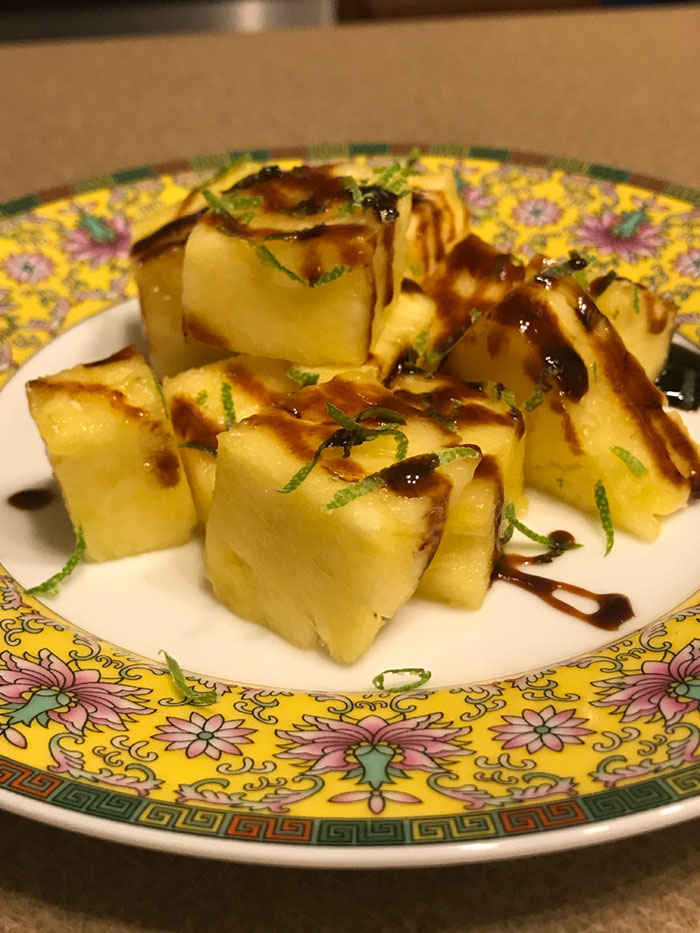 Pineapple with Lime Zest and Molasses