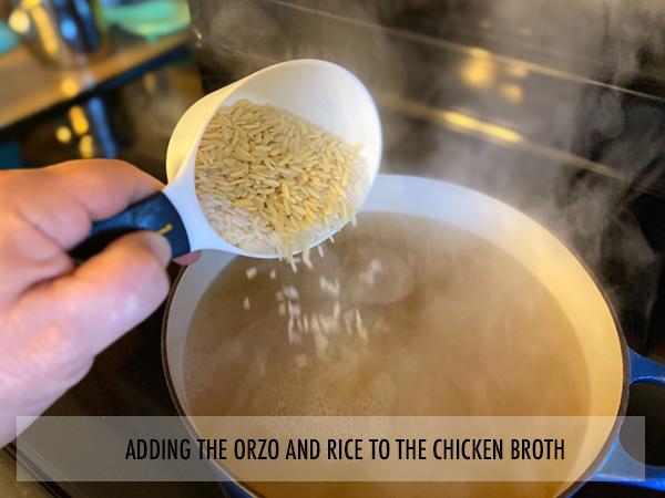 Adding the Orzo