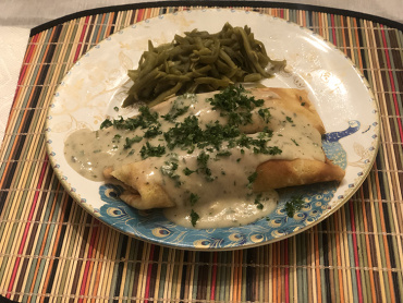 Tarragon Chicken Crepes