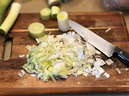 Chopped Leeks